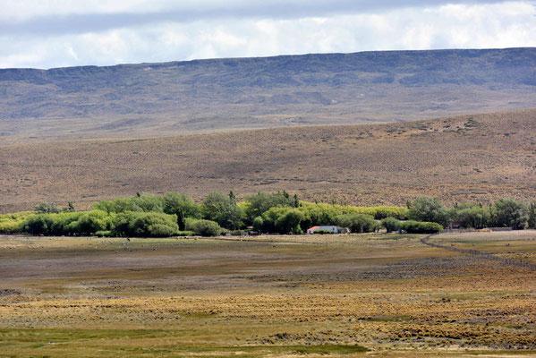 Eine der wenigen Estancias, die man von der Straße aus sehen kann. Die meisten liegen weit weg von der Straße.