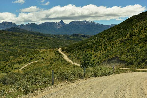 Die Carretera Austral Richtung Lago.