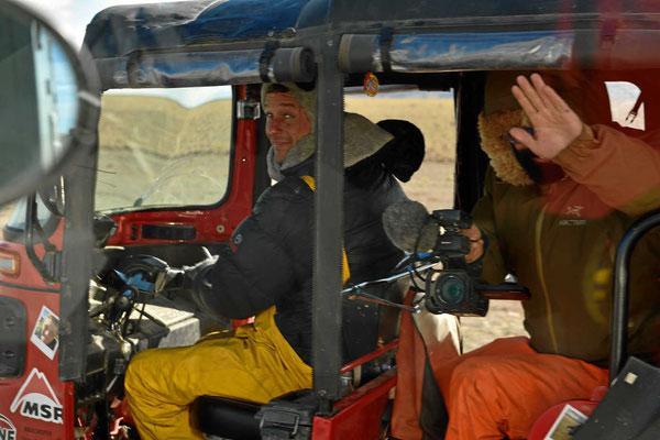 Ein letzter Gruß (am Gletscher Perito Moreno treffen wir sie noch einmal).