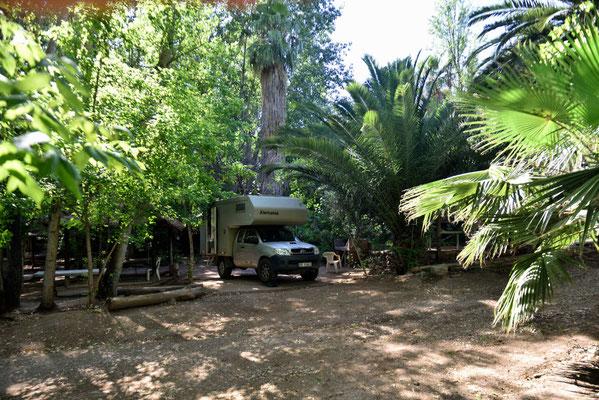 Der Campinglatz Suiza in Mendoza.