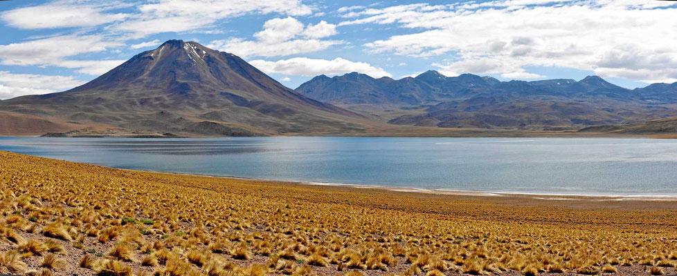 Die linke Hälfte der Laguna Miscanti.