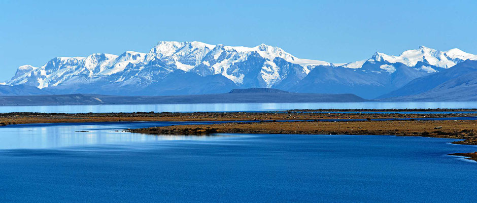 Nochmal ein Rückblick über den Lago Viedma auf das südliche Einseld.