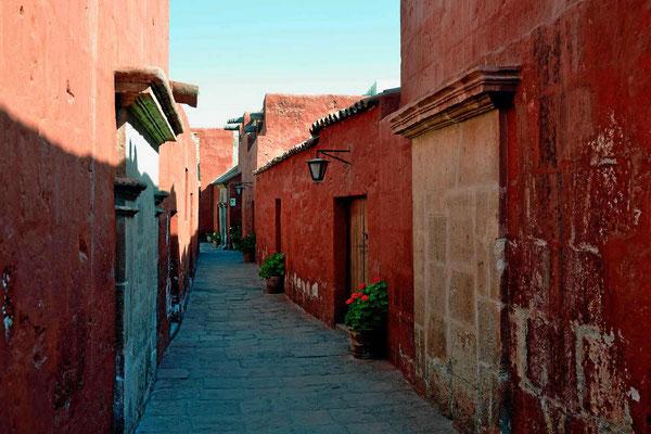 Gasse im Kloster Santa Catalina.
