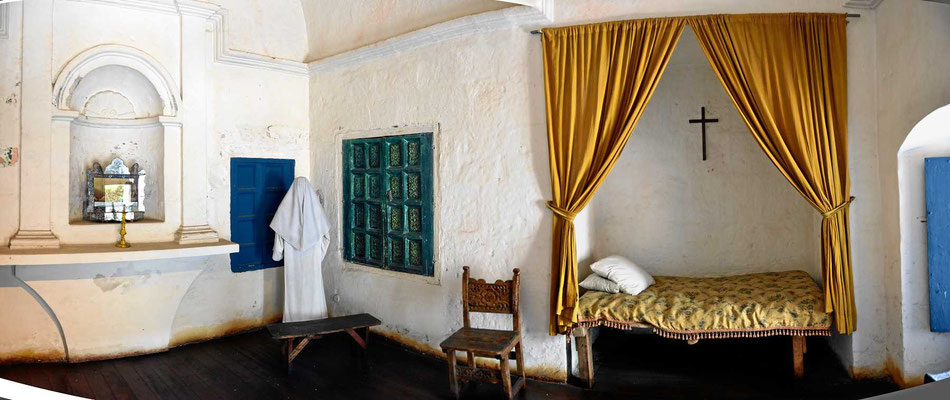 Eine typische Klosterklause.