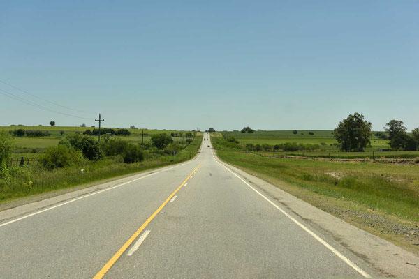 Fahrt in die Unendlichkeit. Bis Salta sind es 2000 solcher Kilometer.