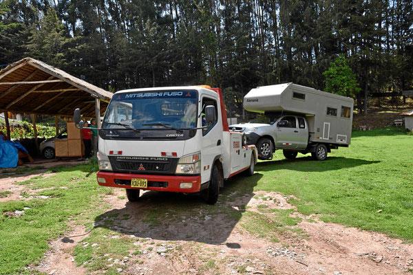 Wir verlassen den Campingplatz.