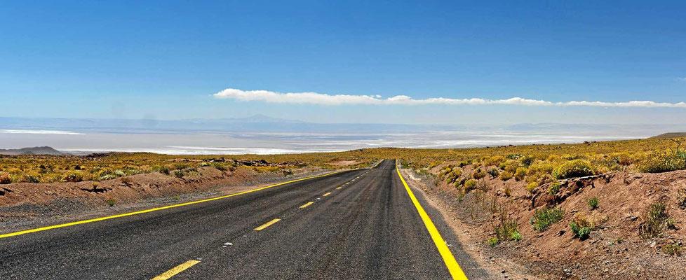 Fahrt zurück nach San Pedro de Atacama.