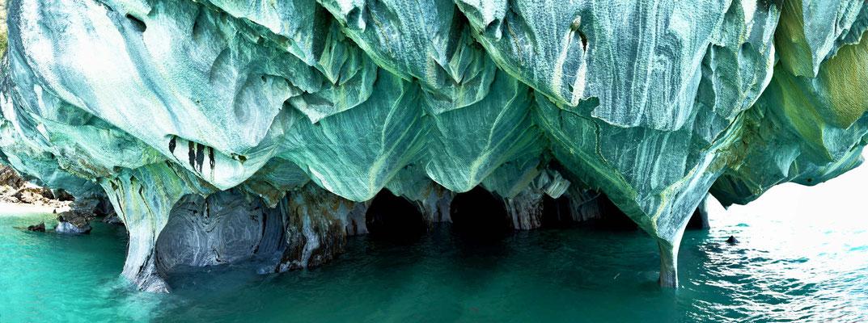 Die Marmorhöhlen am Lago General Carrera.