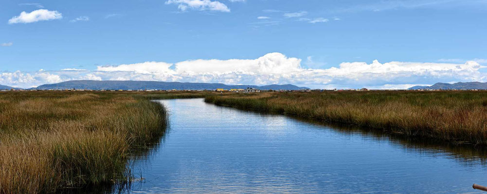 Es geht raus zu den schwimmenden Inseln der Ururi