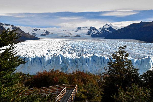 Herbnstblick auf den Gletscher.