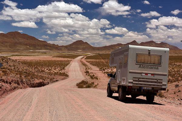 Die ersten Kilometer auf der Ruta 40.