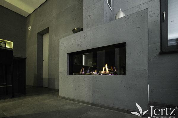 kamin in betonoptik mit TORINO BETON