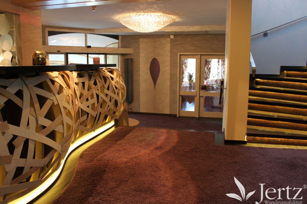 wandgestaltung hotel