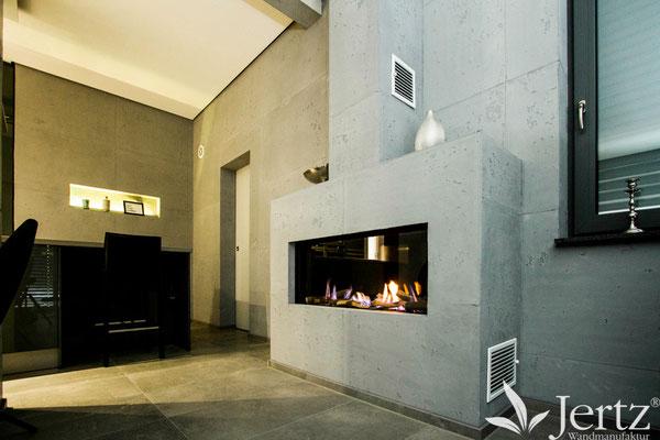 kamin in betonoptik