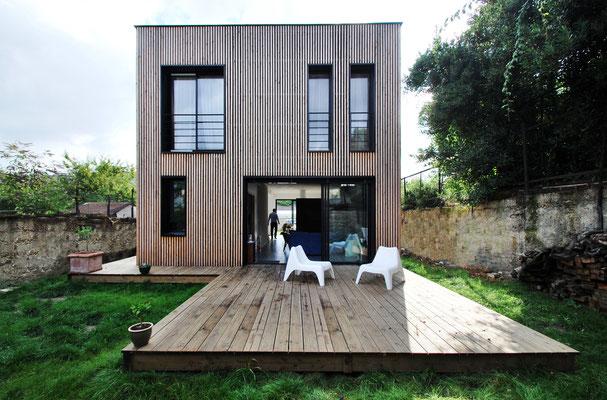 Maison passive epinay sur seine paris skp for Architecture moderne maison individuelle