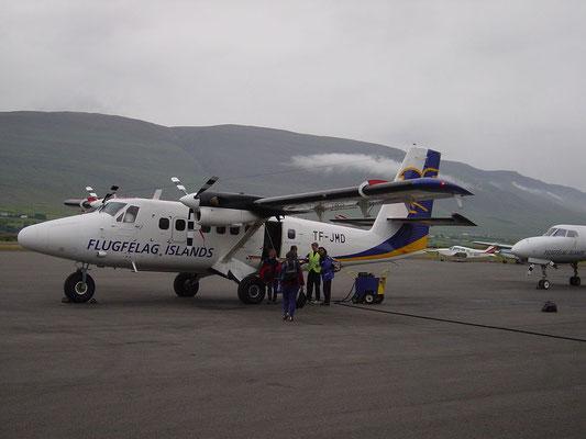 Flug nach Grimsey