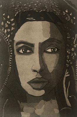 Portrait Aquatinta auf Hartgrund 2016 32 x 38 cm, © Gaby Willaredt-Schiestl