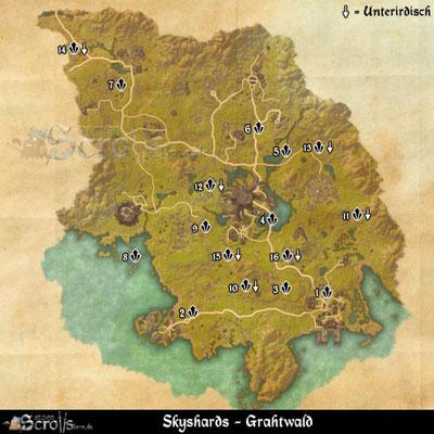 Karten Aller Gebiete Tamriels Die Dunklen Neun