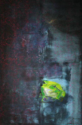 frosch / frog / 120 x 80 / private collection