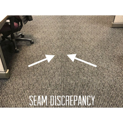Carpet manufacturer color defect.