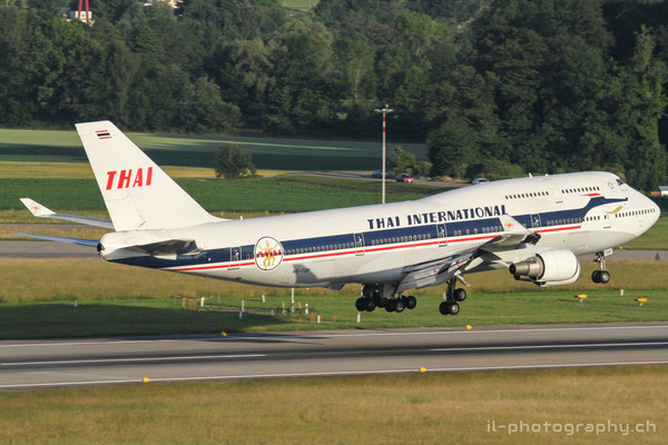 Boeing B747-400, Thai (retro colours), HS-TGP