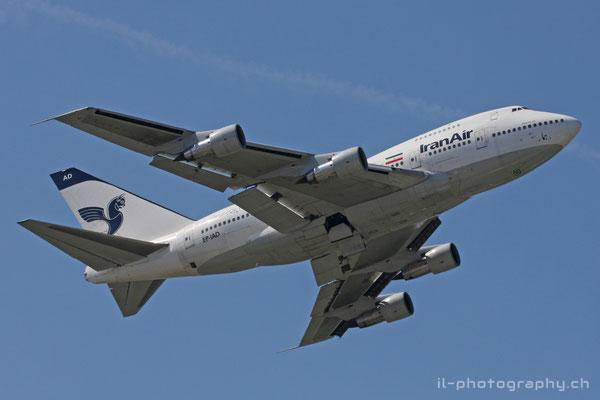 Boeing B747SP, Iran Air, EP-IAD