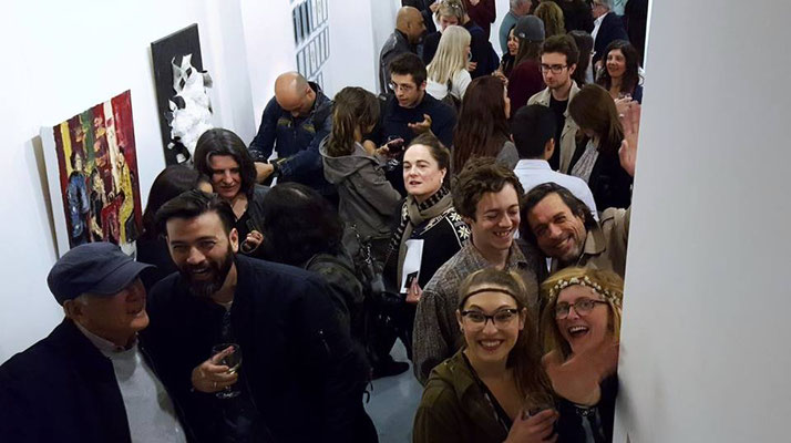 "Espacio Gallery, exhibition ""Between the Lines"", private view, photo: Espacio Gallery."