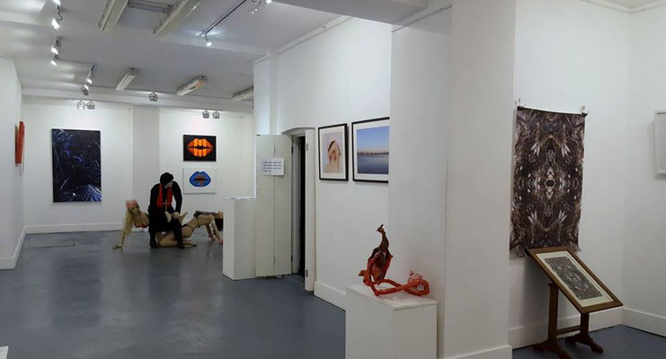 "Espacio Gallery, exhibition ""Between the Lines""  (basement), photo: Espacio Gallery."