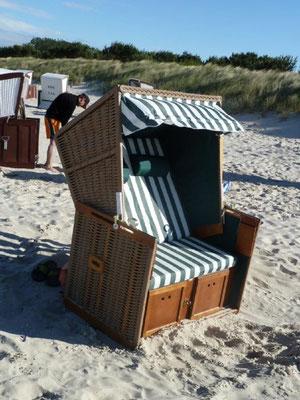 Strandkorb, gratis - für jede Komfort-Ferienwohnnuung in der Saison (Bothmann - Strandnahe Ferienwohnungen, Usedom)