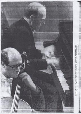 """С Ростроповичем. """"Музыкальная жизнь"""", 1962-2."""