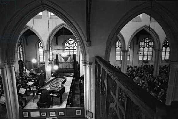 Mozart concerto Aldeburgh Festival, Blytheburgh Church, Suffolk, 1965