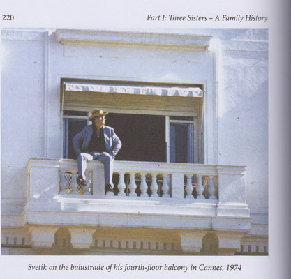 SR on the balustrade of his fourc-floor balcony in Cannes 1974