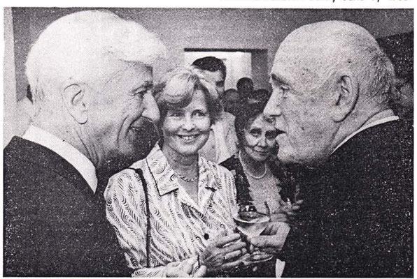 Рихард фон Вайцзеккер, его жена Марианна, Нина Львовна и Рихтер. Бонн-Роландсек, 04/06/88 (концерт памяти Мравинского). Бундеспрезиденту особенно понравились две прелюдии и фуги Шостаковича.
