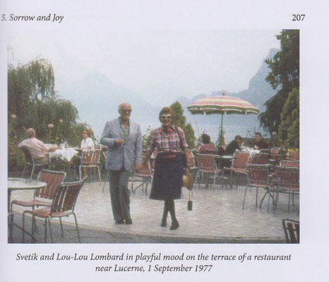 with Lou-Lou on the terrace of a restaurant near Lucerne 1-09-1977