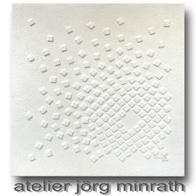 2018 - Strukturarbeit auf Leinwand - 70 x 70 x 2 cm - copyright © 2003-2018 by Jörg Minrath