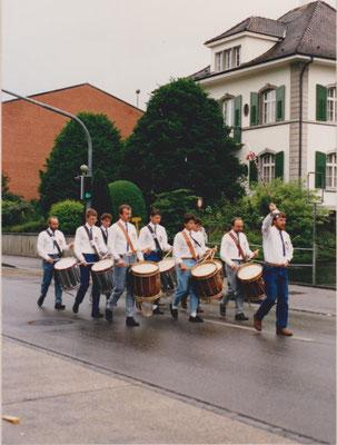 1988: Der damals 50-Jährige Verein erreichte den 1. Rang am Zentralschweizerischen Tambourenfest in Liestal