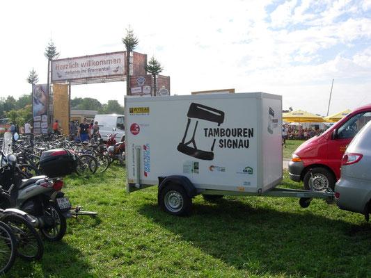 2013: Unser Instrumentenanhänger am Eidgenössischen Schwingfest in Burgdorf