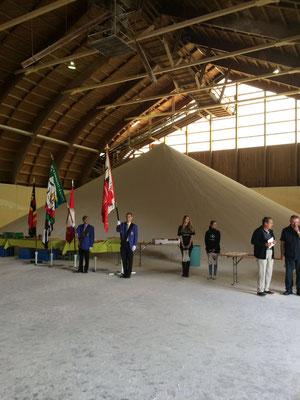 Die Veteranenehrung fand auf dem Areal der Schweizer Salinen statt.