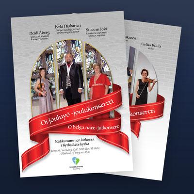 Oi jouluyö - kirkkokonserttien julisteet
