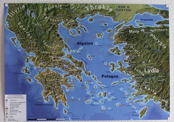 Das klassische Griechenland in DIN A2