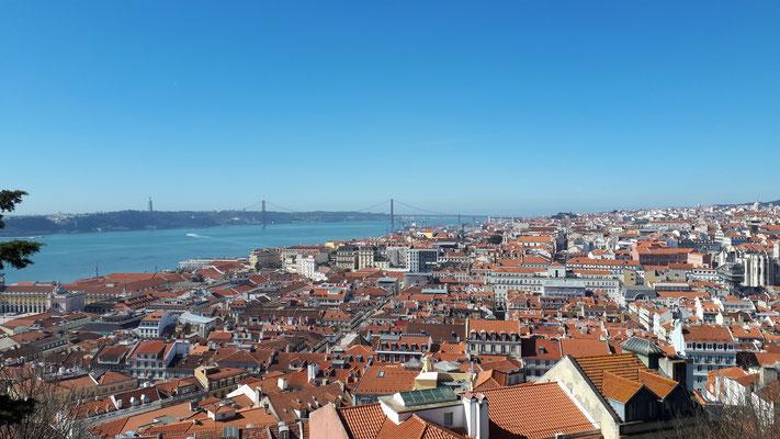 Uitzicht over de stad vanaf Casteló Sao Jorge