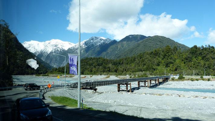 Onderweg naar Franz-Josef gletsjer