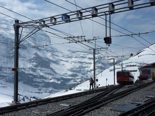 Jungfraubahn bij Station Kleine Scheidegg