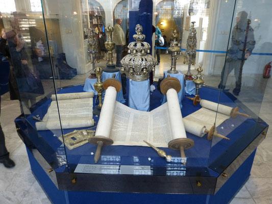 Boekrollen in het Joods Museum
