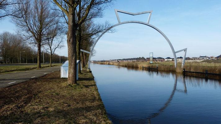 De finish op de Bonkevaart bij Leeuwarden