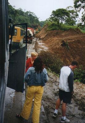 Oponthoud door de slecht begaanbare wegen