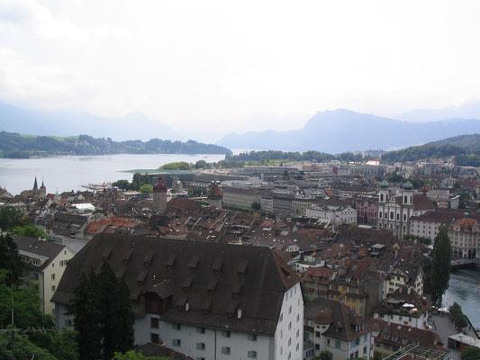 Uitzicht over Luzern