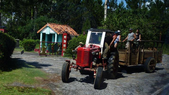 Boer met tractor
