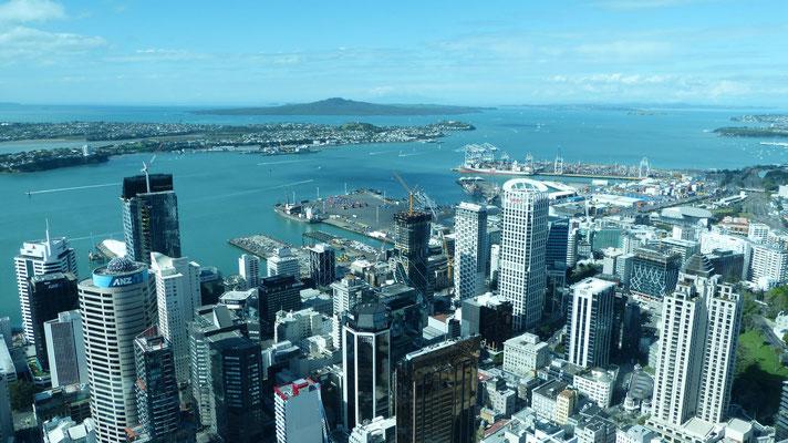 Uitzicht vanaf de  SkyTower