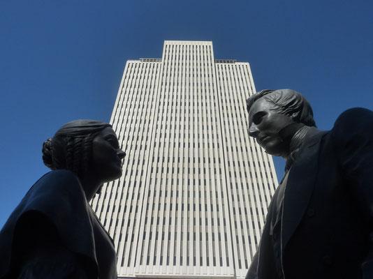 Joseph en mrs Smith, oprichters van de Mormoonse Kerk